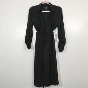 IRIS Basic | Sexy Black Long Sleeve Wrap Dress